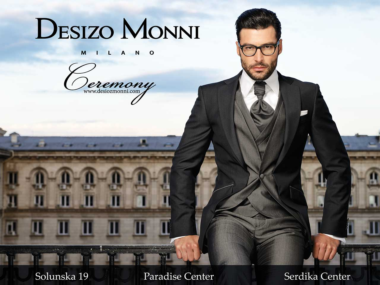 Desizo Monni collection Ceremony 2017 by Dilian Markov, model Marian Kurpanov