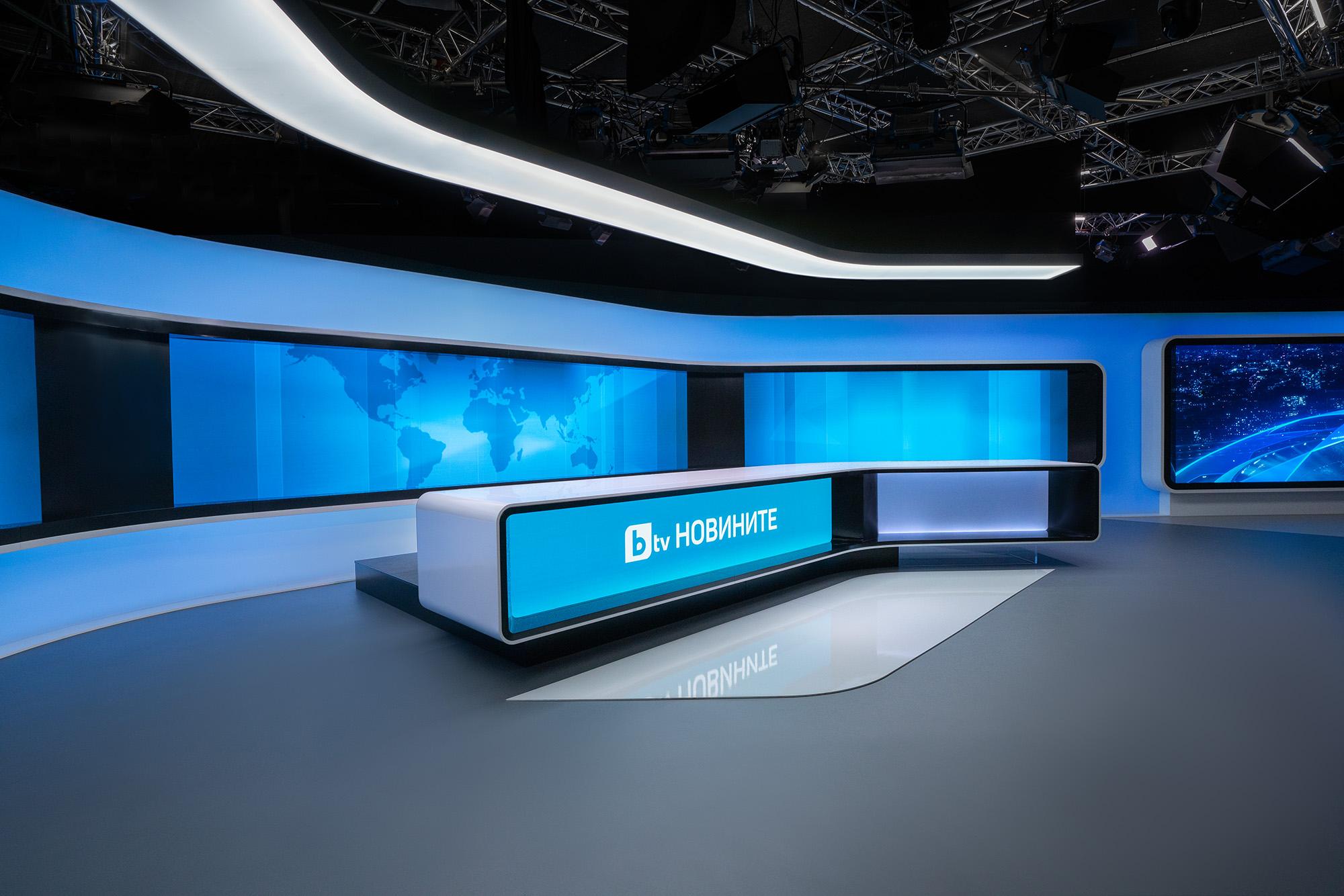 Новото студио на bTV New Studio BTV